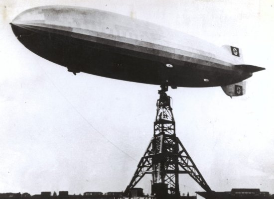 Led Zeppelin I Album Cover Hindenburg Disaster