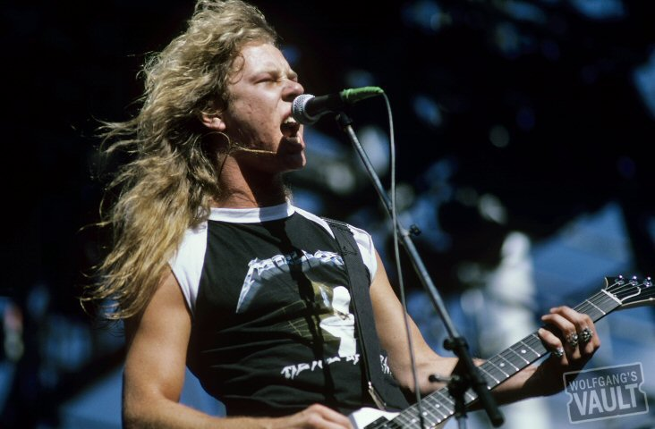 James Hetfield Wearing Metallica Shirt Band Merch