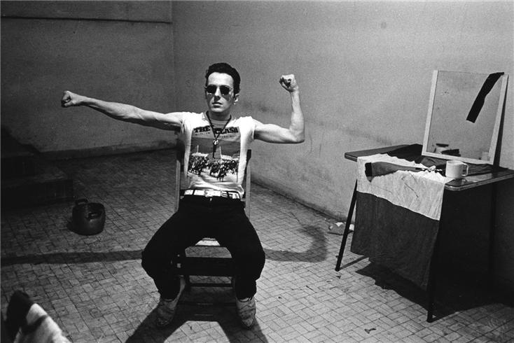 Joe Strummer Wearing The Clash Shirt Band Merch