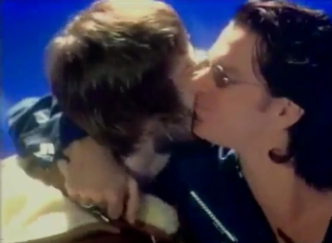Michael Hutchence INXS Oasis Liam Gallagher Kiss 1996 Brit Awards