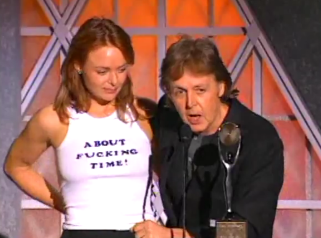 Stella McCartney About Fucking Time Shirt Paul McCartney Rock & Roll Hall Of Fame