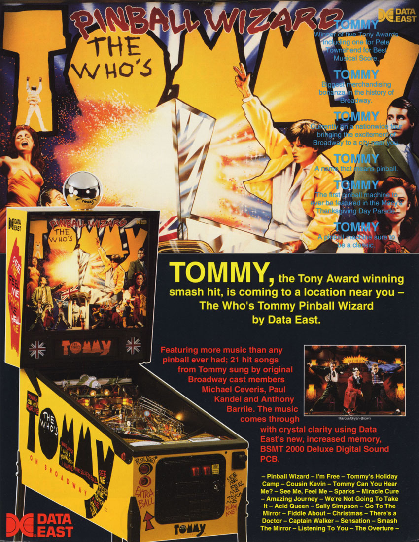 The Who Pinball Wizard Pinball Machine