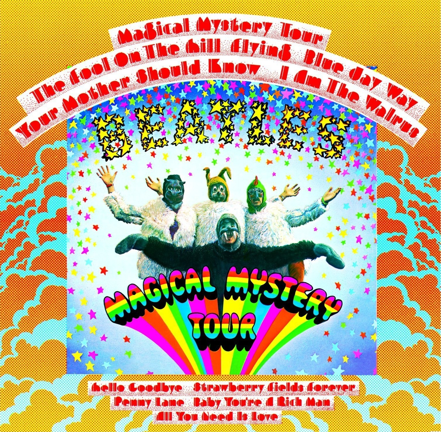The Beatles Magical Mystery Tour Album Cover Paul Walrus