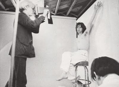 Andy Warhol Mick Jagger Polaroid Camera Studio