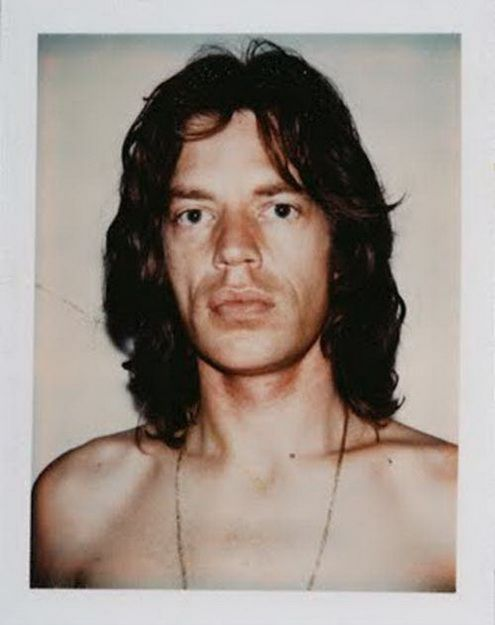 Andy Warhol Mick Jagger Polaroid Photos