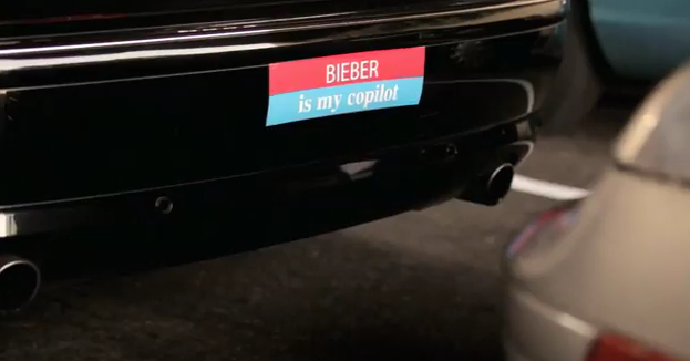 Bieber Is My Co-Pilot Bumper Sticker Foo Fighters Walk Video