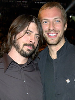 Dave Grohl Foo Fighters Chris Martin Coldplay