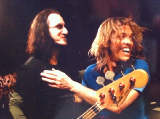 Taylor Hawkins Geddy Lee Rush Foo Fighters