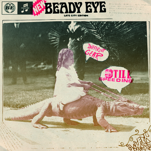 Beady Eye Different Gear Still Speeding Album Cover Little Girl On Alligator