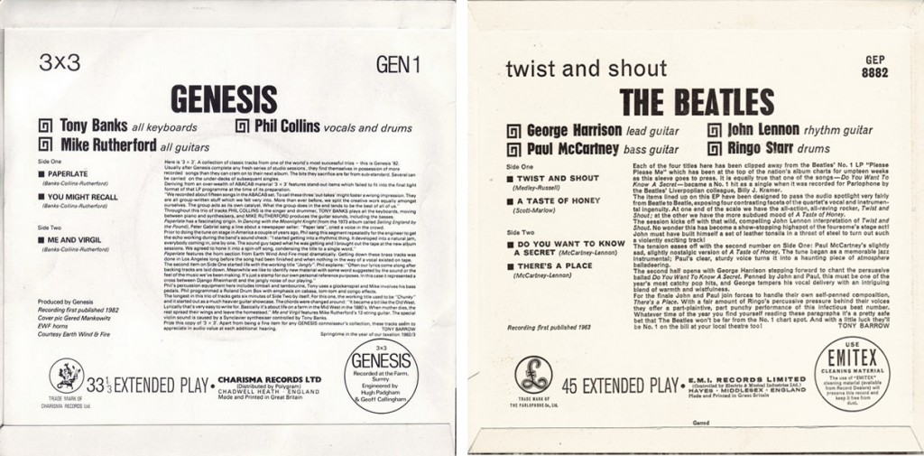 The Beatles Twist And Shout Genesis 3X3