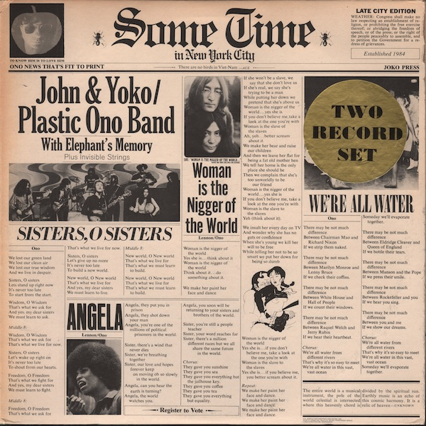 Censored Sometime In New York City John Lennon Plastic Ono Band