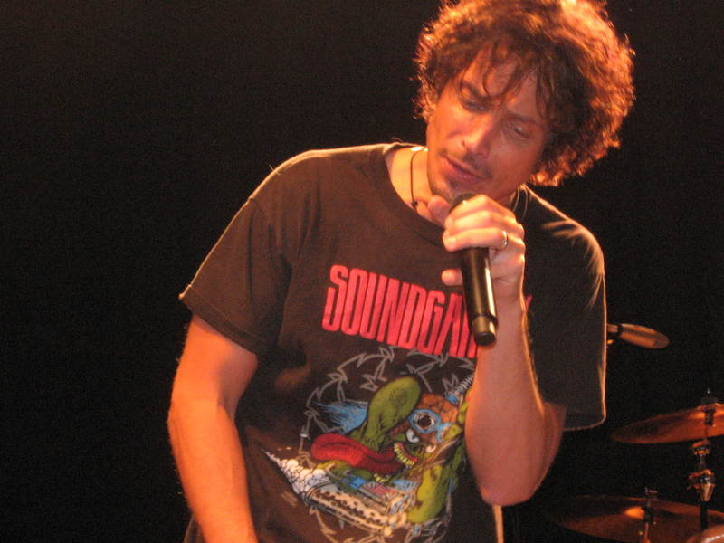 Chris Cornell Wearing Soundgarden Shirt