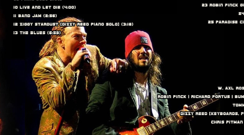 Fake Axl Rose Slash Photo Bumblefoot Guns N Roses