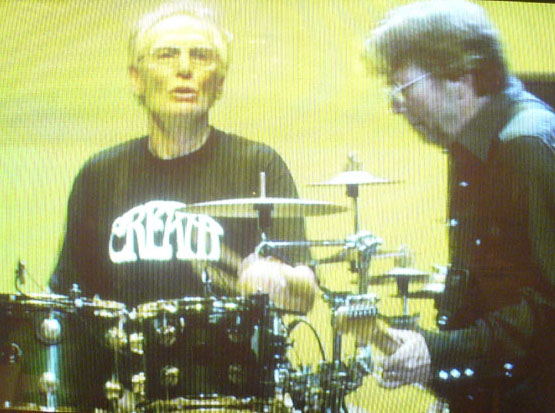 Ginger Baker Wearing Cream Shirt