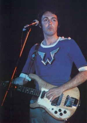 Paul McCartney Wearing Wings Logo Shirts