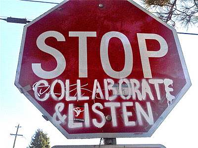 Stop Collaborate and Listen Vanilla Ice Stop Sign
