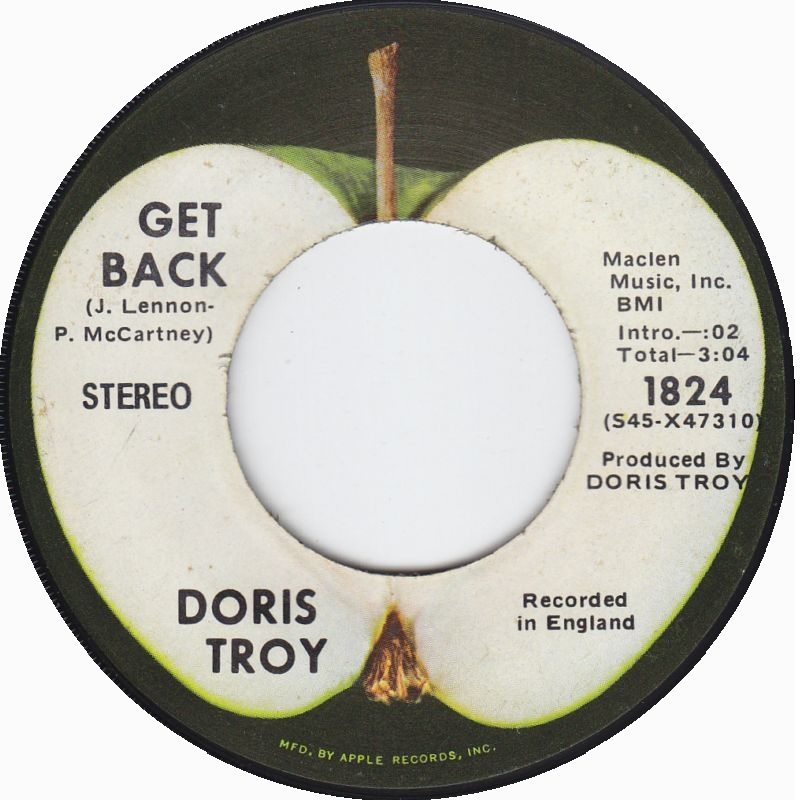 Doris Troy Get Back George Harrison Version Apple Records