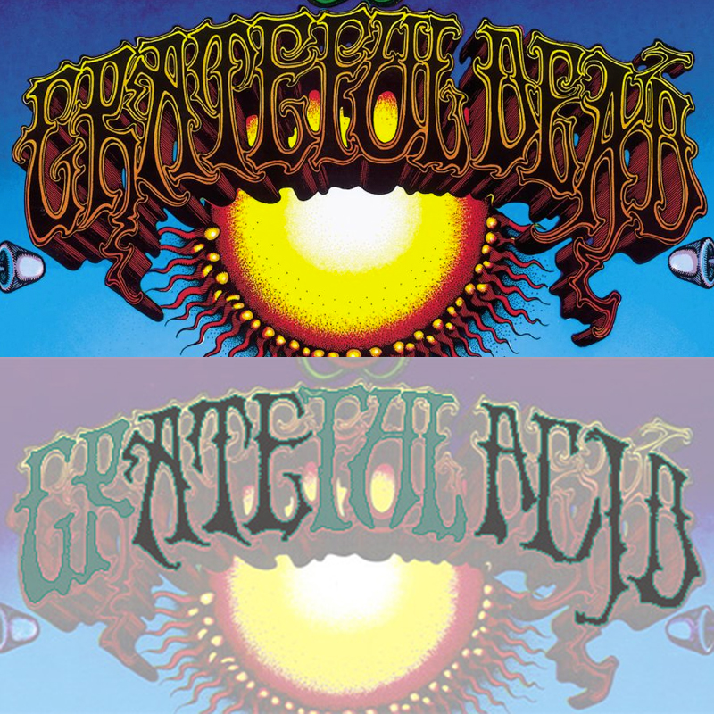 Grateful Dead Aoxomoxoa Ate The Acid Ambigram