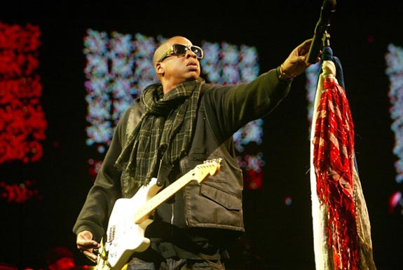 Jay-Z Oasis Noel Gallagher Wonderwall Glastonbury 2008