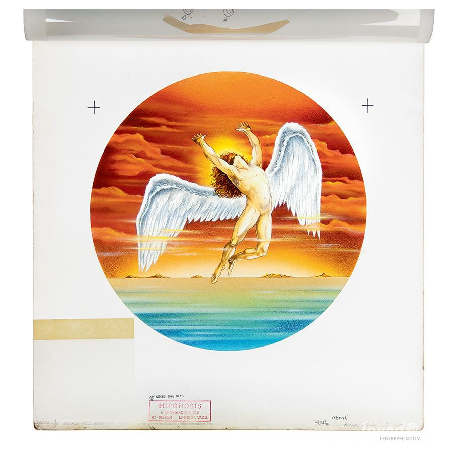 Led Zeppelin Swan Song Logo Wings Angel APollo