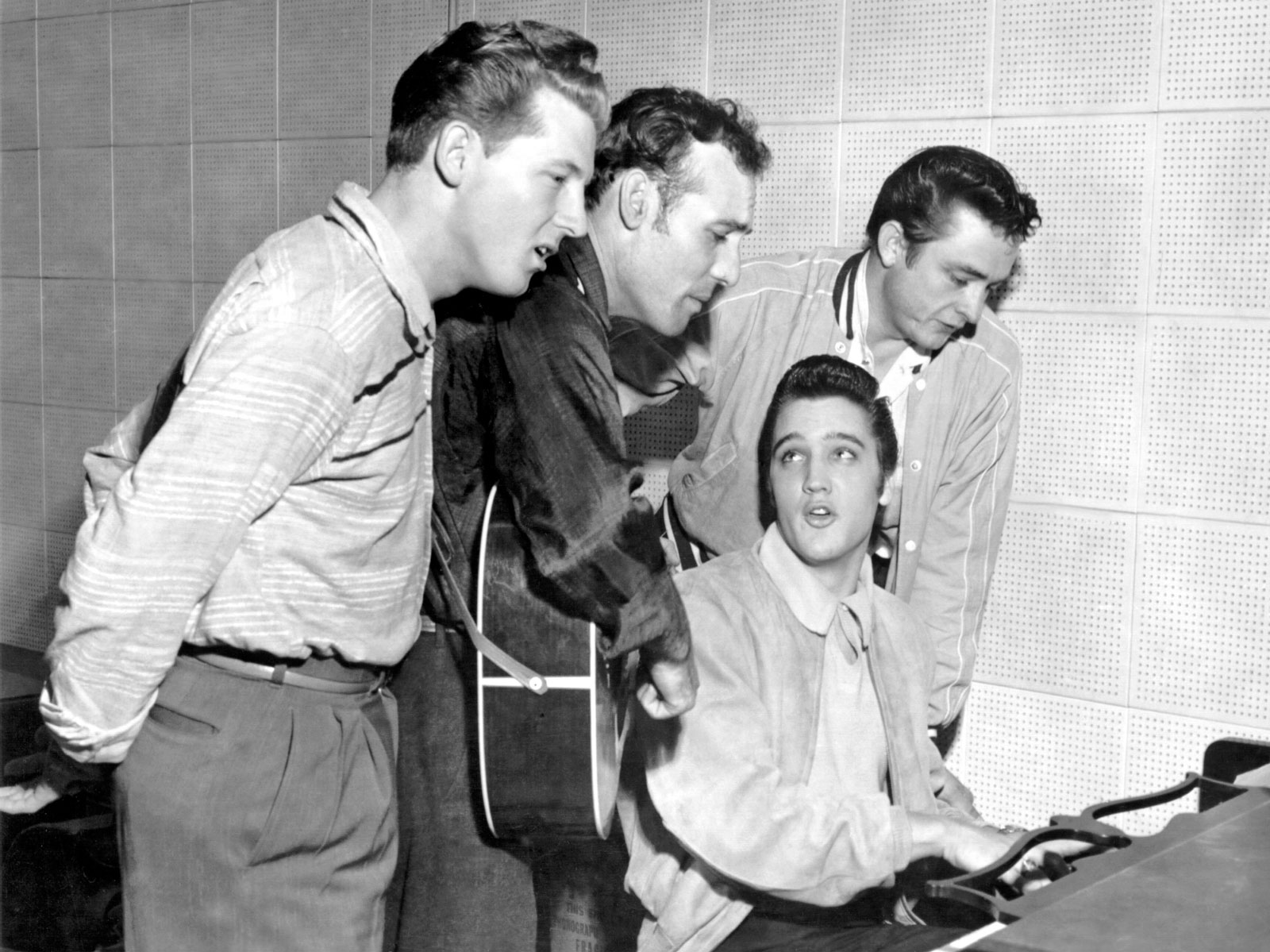 Million Dollar Quartet Jerry Lee Lewis Carl Perkins Elvis Presley Johnny Cash