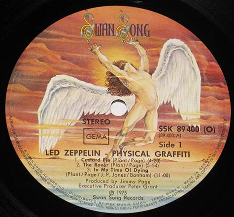 Led Zeppelin Physical Graffiti Swan Song Logo