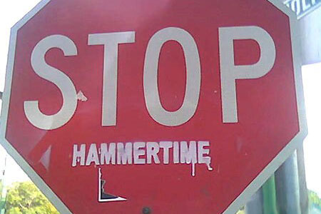 Stop Hammertime Stop Sign MC Hammer