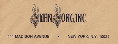 Led Zeppelin Swan Song New York Office 444 Madison Ave