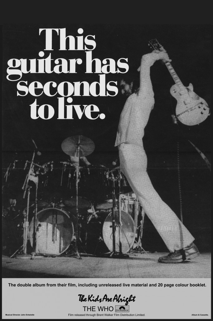 This Guitar Has Seconds To Live Pete Townshend The Who Ad Concert Location