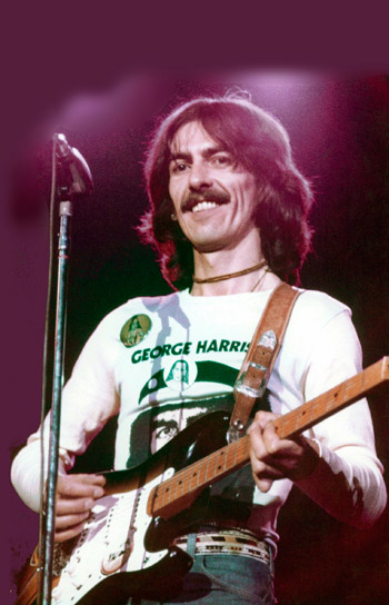 George Harrison Wearing His Own Shirt