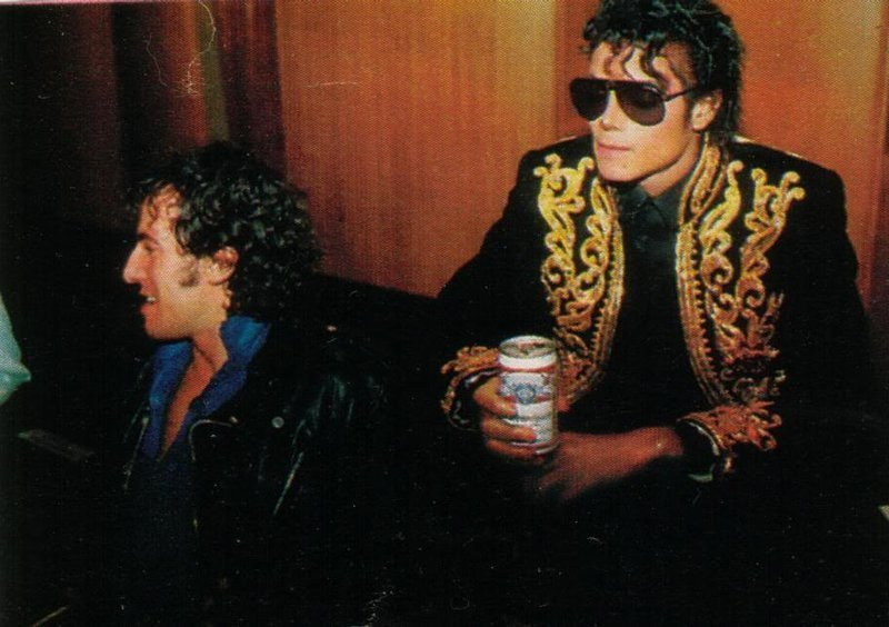 Michael Jackson Drinking A Beer Budweiser We Are The World
