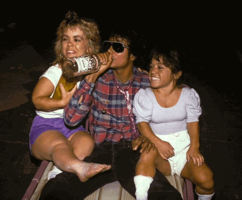 Michael Jackson Captain EO Vodka Midget Girls On His Lap