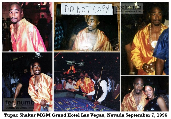 Tupac 2Pac Shakur Last Photo MGM Grand Hotel Las Vegas Nevada Murder Orange Shirt
