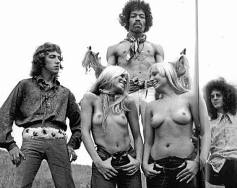 The Jimi Hendrix Experience Hawaii Topless Girls 1968