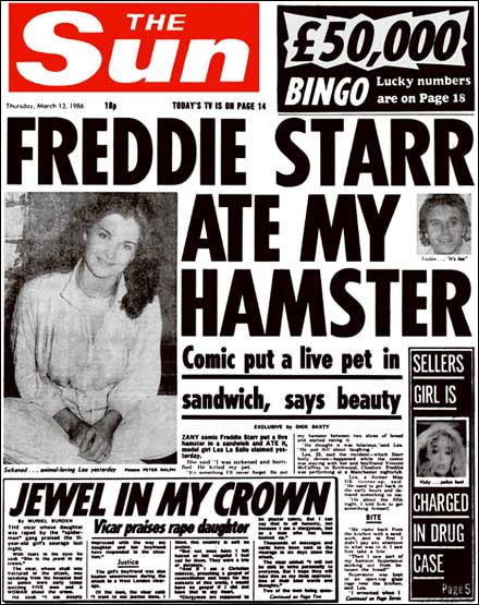 Freddie Starr Ate My Hamster Queen John Deacon Shirt Wembley Stadium