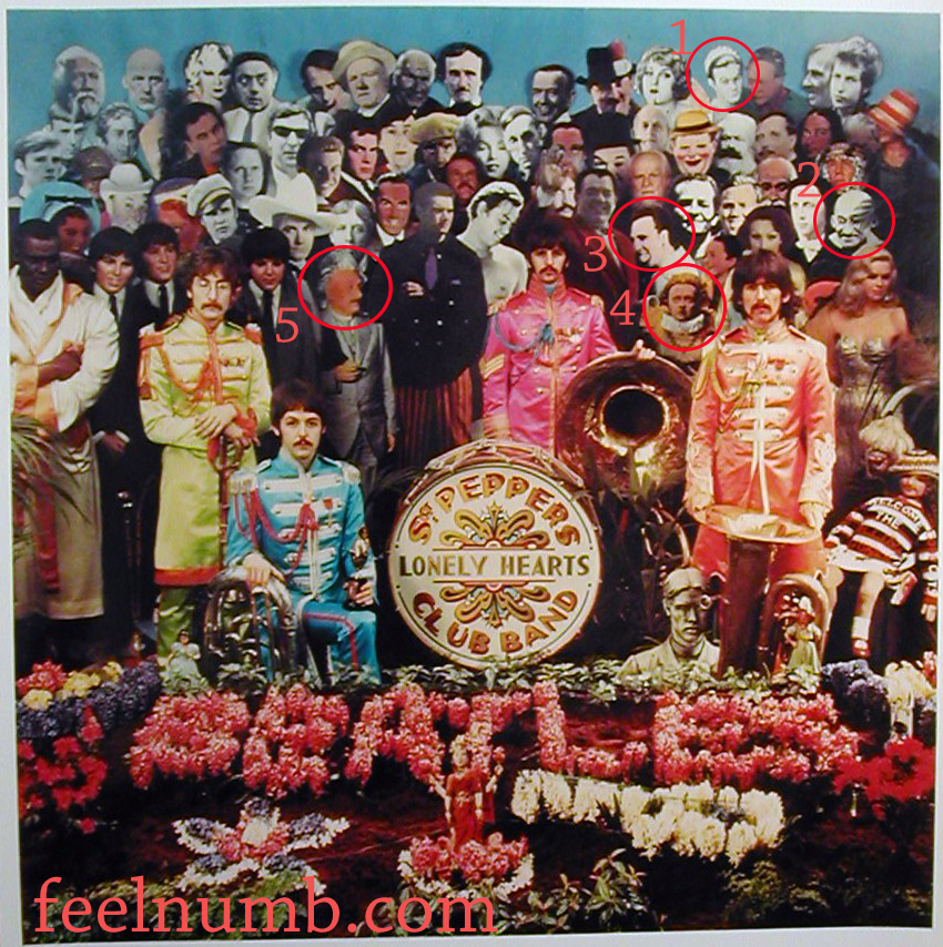 The Beatles Sgt. Peppers Lonely Hearts Club Band Missing Obscured Famous People Ghandi Einstein