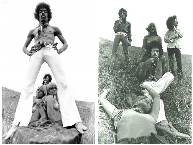 Jimi Hendrix Experience Hawaii Photos Topless Women 1968