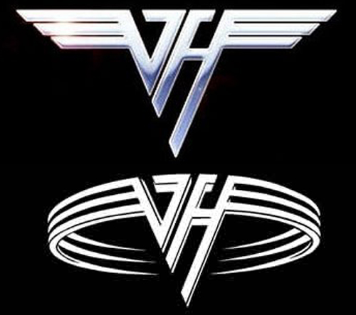 Van Halen Logos Curved Straight Wings