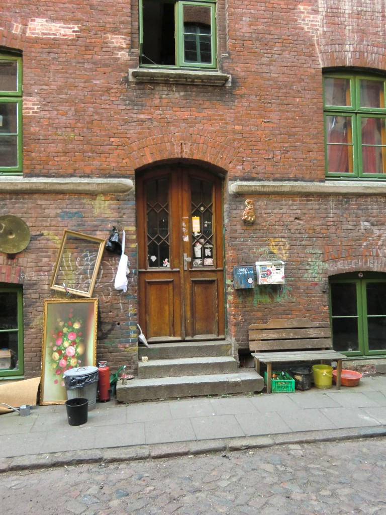 John Lennon Rock 'N' Roll Album Cover Doorway Location Hamburg Germany
