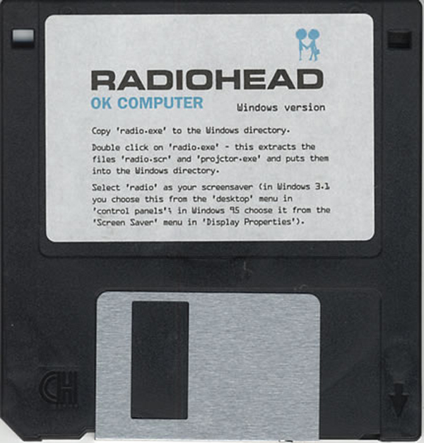 Radiohead OK Computer Floppy Disk Disc Screensaver