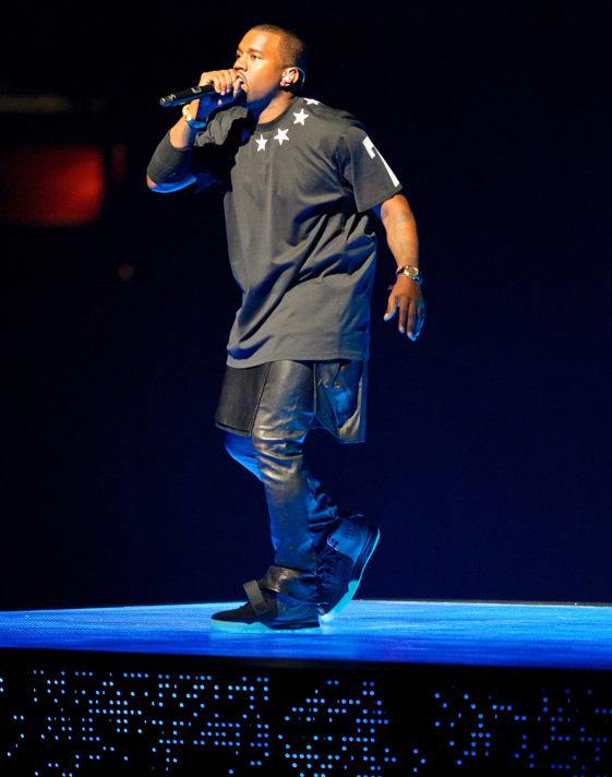 Kanye West Leather Skirt Watch The Throne Tour 2012 Fashion