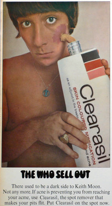Keith Moon Clearasil Advertisement The Who Sell Out Australia