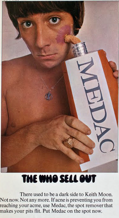 Keith Moon The Who Sells Out Medac Advertisement