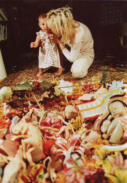 Kurt Cobain Nirvana In Utero Back Cover Collage Courtney Love Frances Bean Cobain