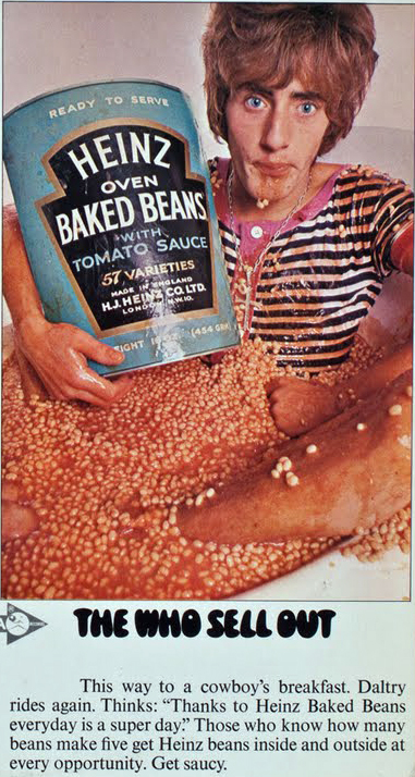 Roger Daltrey The Who Sell Out Advertisement Heinz Baked Beans