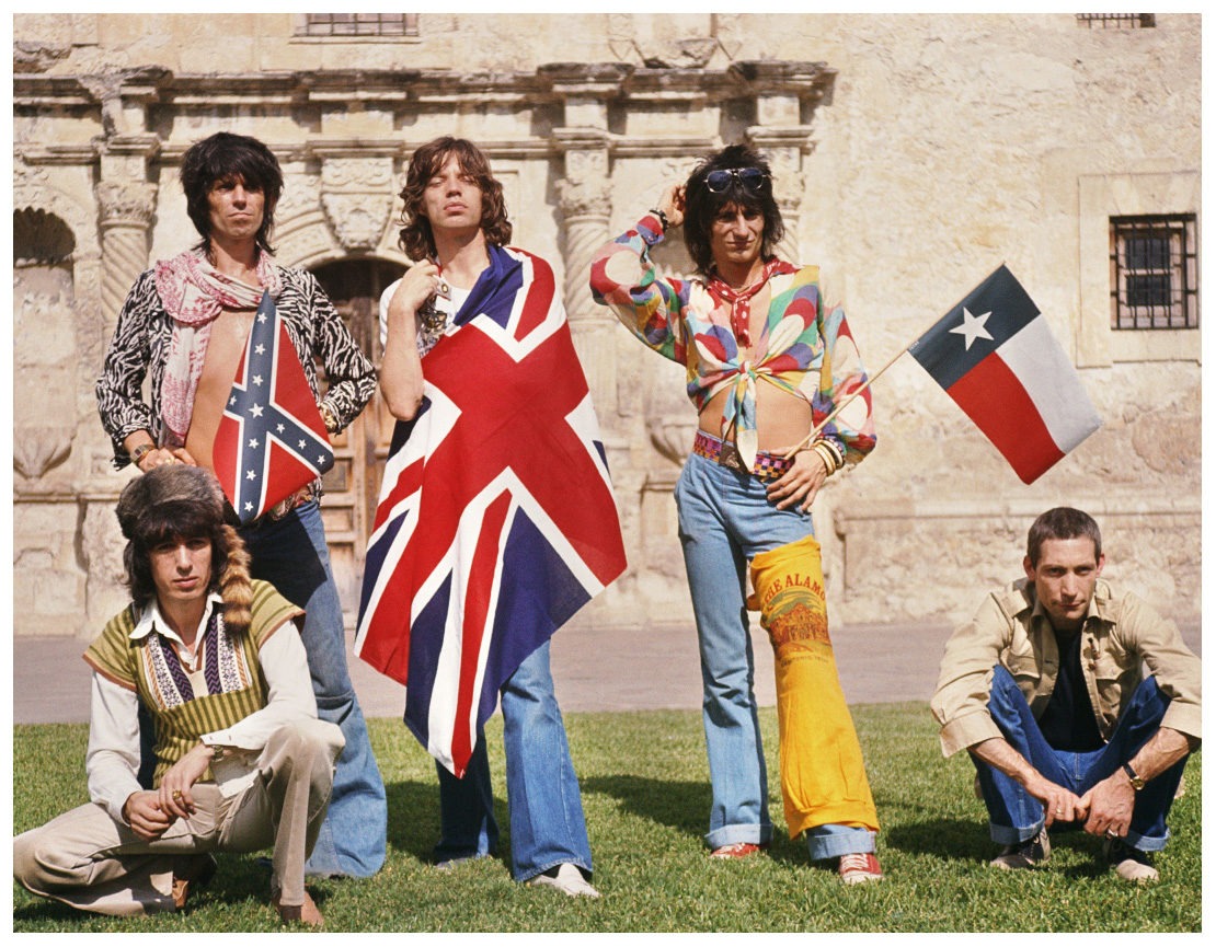 The Rolling Stones 1975 The Alamo San Antonio Texas Union Jack Flags