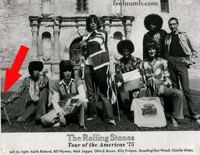 The Rolling Stones Confederate Flag Billy Preston 1975 The Alamo