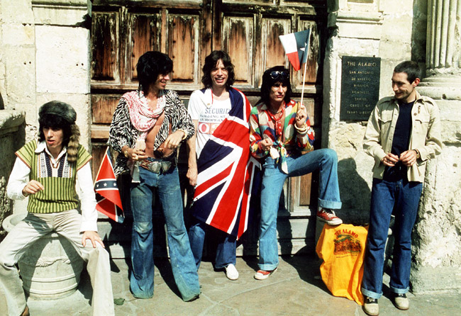 The Rolling Stones The Alamo Texas Flag Confederate Union Jack