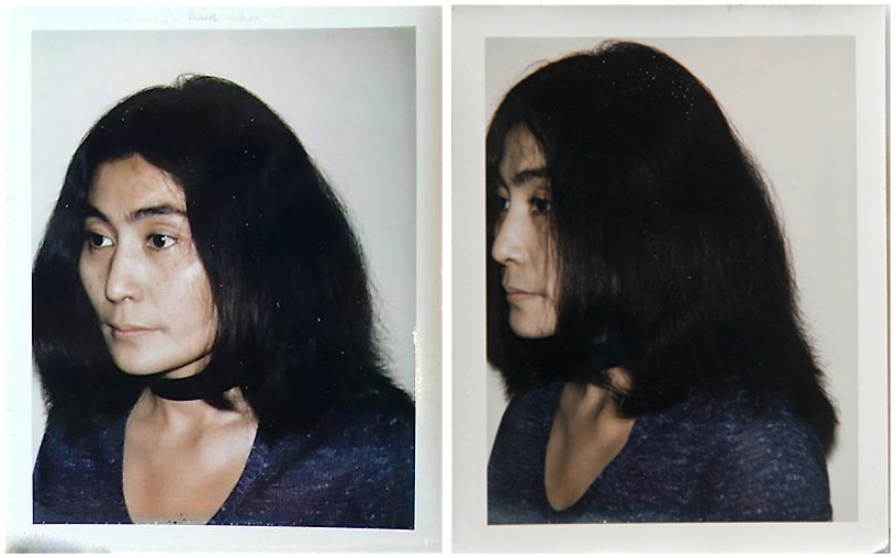 Yoko Ono Andy Warhol Polaroid John Lennon Photo