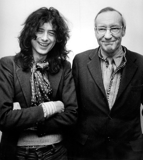 Jimmy Page Led Zeppelin WIlliam S. Burroughs 1975